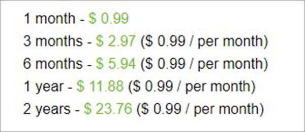 Pricing-of-VPN99-Analysis