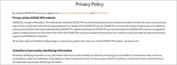 Privacy-Policy-Goose-VPN