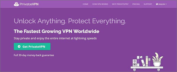 PrivateVPN-提供高流速