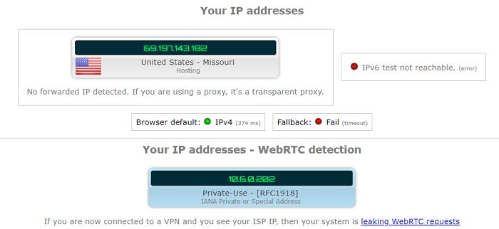 CactusVPN-IP-DNS-leak-test