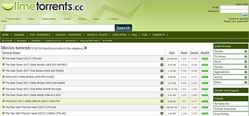 LimeTorrent Meilleurs sites de Torrent pour les jeux