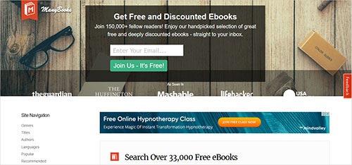 ManyBooks site torrent pour le téléchargement de livres