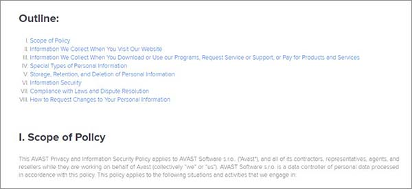 Privacy-Policy-Avast-SecureLine-VPN-Review