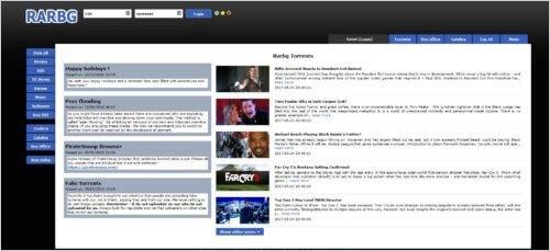 RARBG Meilleurs sites de Torrent pour Films