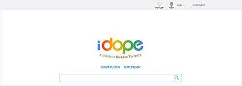 iDope Meilleurs sites de Torrent pour la musique