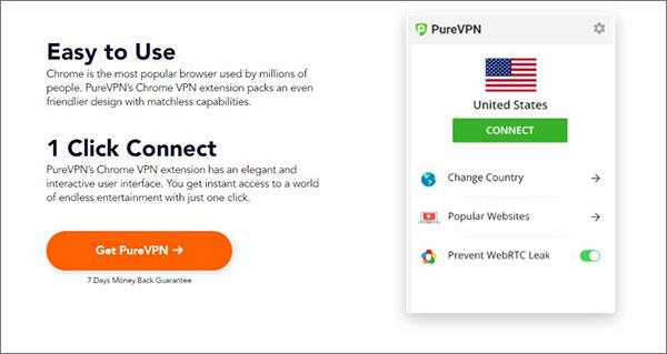 下载PureVPN Chrome VPN扩展