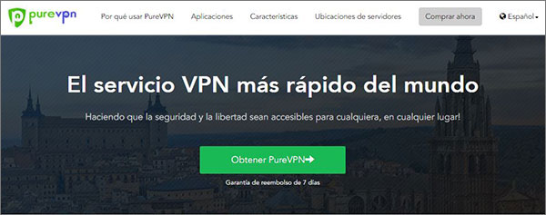 Análisis de rendimiento del sitio web PureVPN