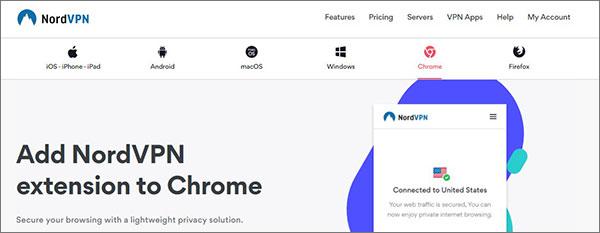 Browser VPN for Windows NordVPN