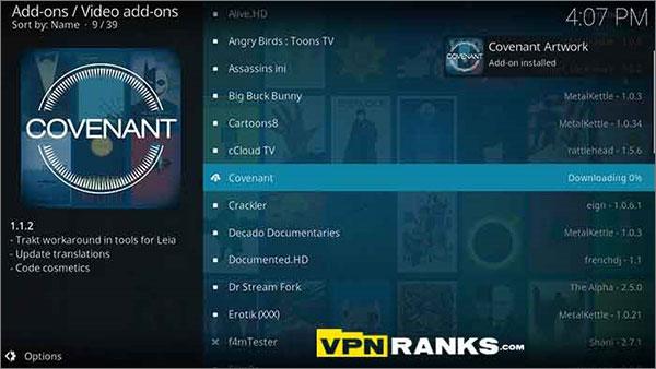 Covenant Kodi Netflix Alternative