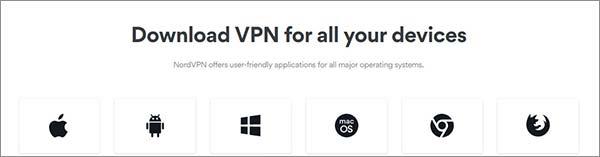 Dispositivos compatibles con NordVPN