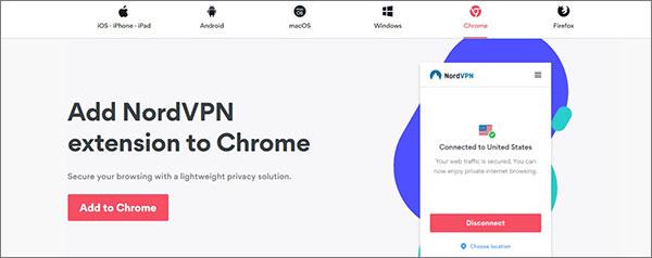 NordVPN Chrome扩展程序