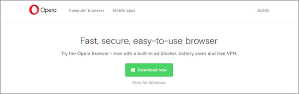 OperaVPN Browser for Chrome and Firefox