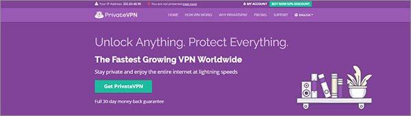 PrivateVPN para Mac OS