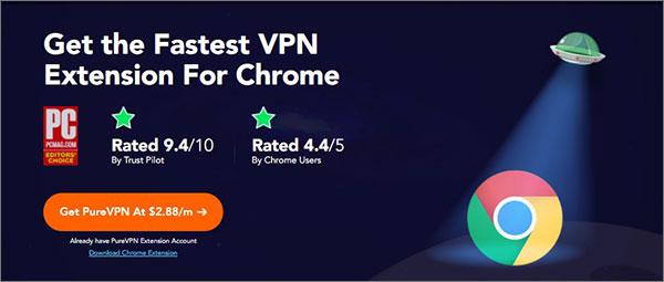 PureVPN Chrome扩展2018年