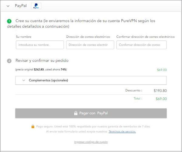 PureVPN-Paypal