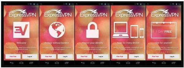 Aplicación de Android ExpressVPN