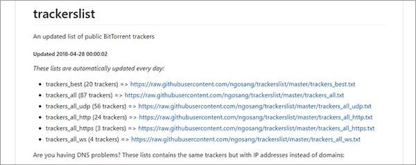 BitTorrent-Tracker-Github-