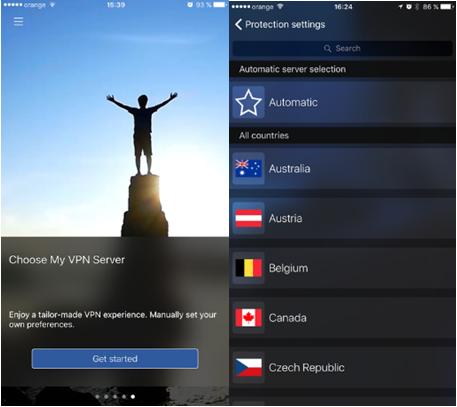 CyberGhost para iPhone y iPad