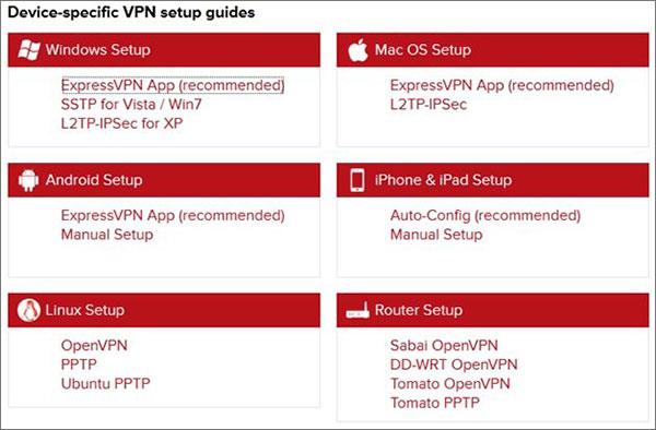 Guía de configuración del dispositivo ExpressVPN