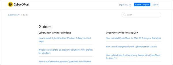 Guías de revisión CyberGhost