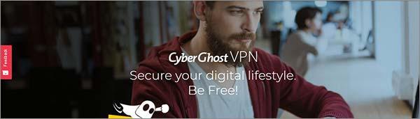 Página de inicio de CyberGhost