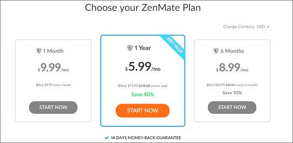 ZenMate-VPN-Pricing-Plans