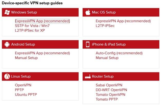 expressvpn设备设置指南