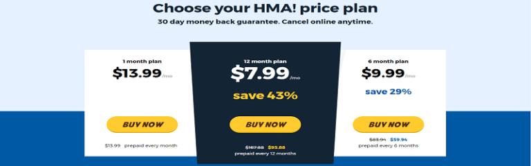План ценообразования HideMyAss