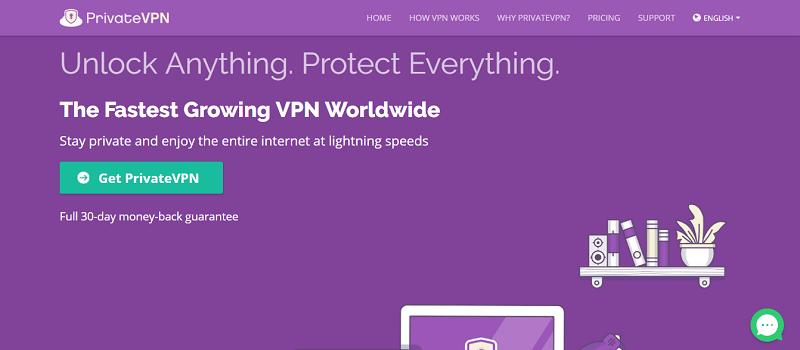 PrivateVPN-fournisseur