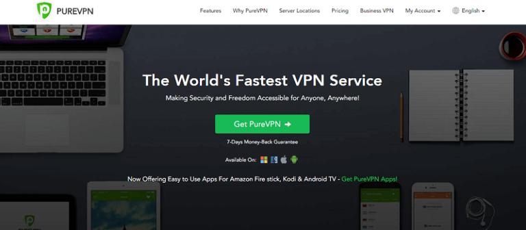 PureVPN - лучший сервис VPN