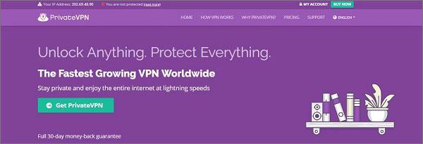 PrivateVPN - VPN for New Zealand