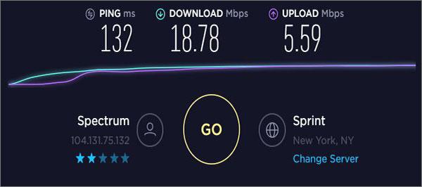 CyberGhostVPN-USA-Speeds-on-mac
