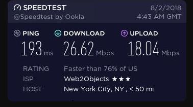Express VPN US Speeds