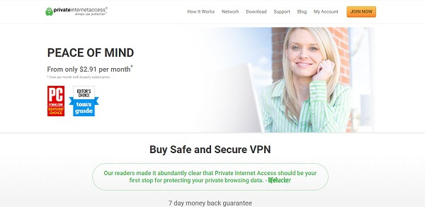 PIA protects browsing history of user