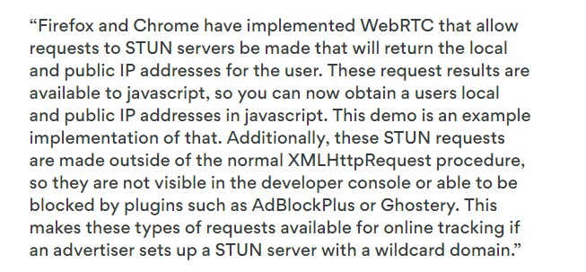 WebRTC-Privacy-Risk