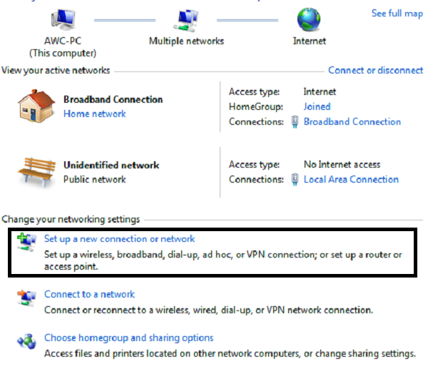set-up-a-new-connection