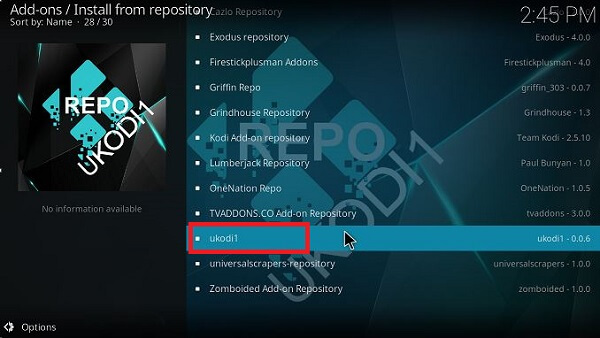 How to install Outlaw Kodi Step 12