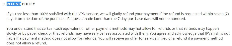 IPVanish-Refund-Policy