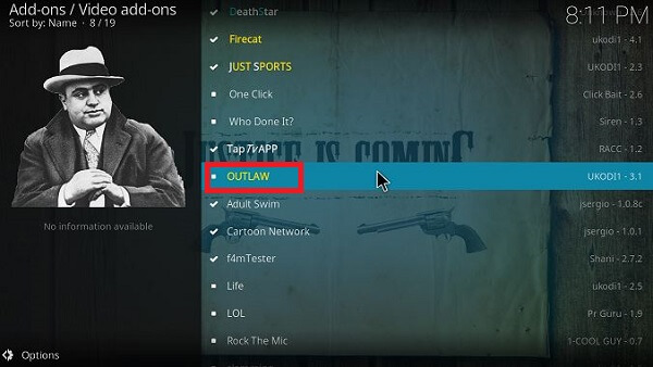 Step 13 How to install Outlaw Kodi