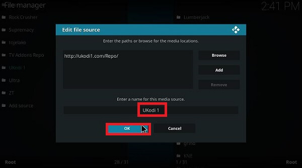 Step 5 How to install Outlaw Kodi