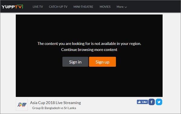 YuppTV Blocked