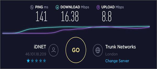 ZenMate UK Speeds