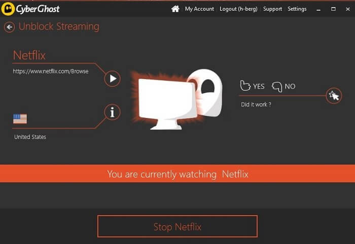 netflix how to change to us