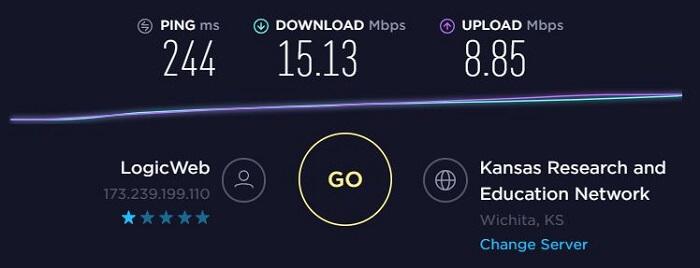 ExpressVPN-Speed-Test-Kansas