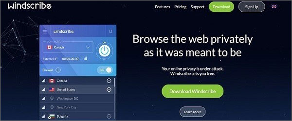 Windscribe - Free VPN for Popcorn Time