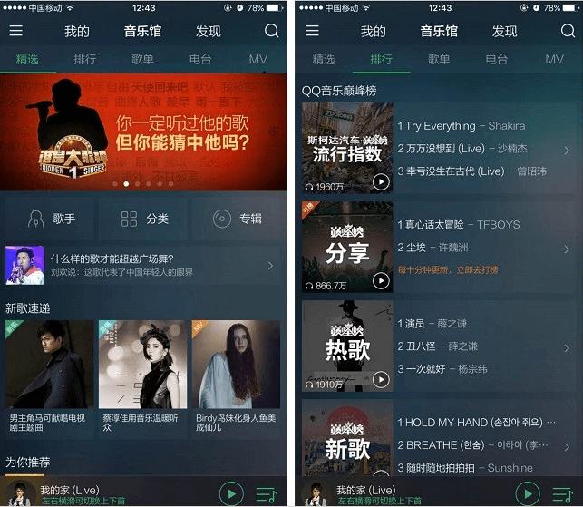 境外中国的QQ音乐