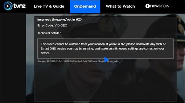 TVNZ Error