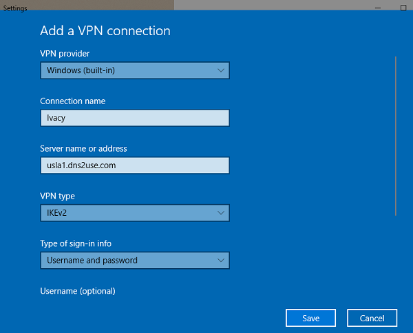 VPN Manual Set up 3
