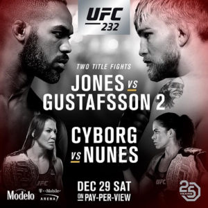 Watch Jones vs Gustafsson 2| Cyborg vs Nunes| Live Online at UFC 232