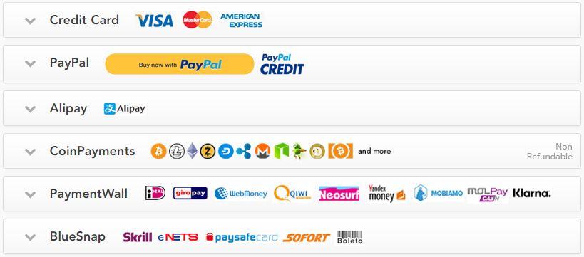 PureVPN payment modes